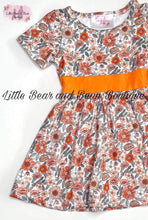 Load image into Gallery viewer, Orange Floral Dress