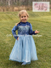 Load image into Gallery viewer, Velvet Snowflake Elsa Inspired Dress