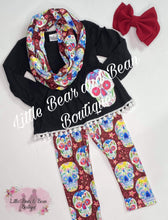Load image into Gallery viewer, Sugar Skull Scarf Set