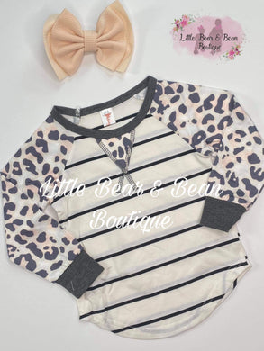 Mommy and Me Top Striped Raglan Child