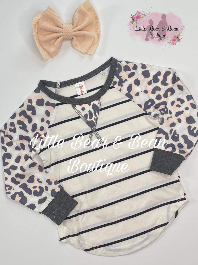 Striped Raglan Mommy and Me Top Child