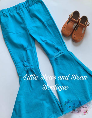 Distressed Denim Belles - Teal