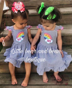 BFF Rainbow Best Friends Set - 2 Separate Pieces RIGHT and LEFT