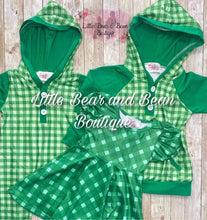 Load image into Gallery viewer, Green Plaid Twirl Dress