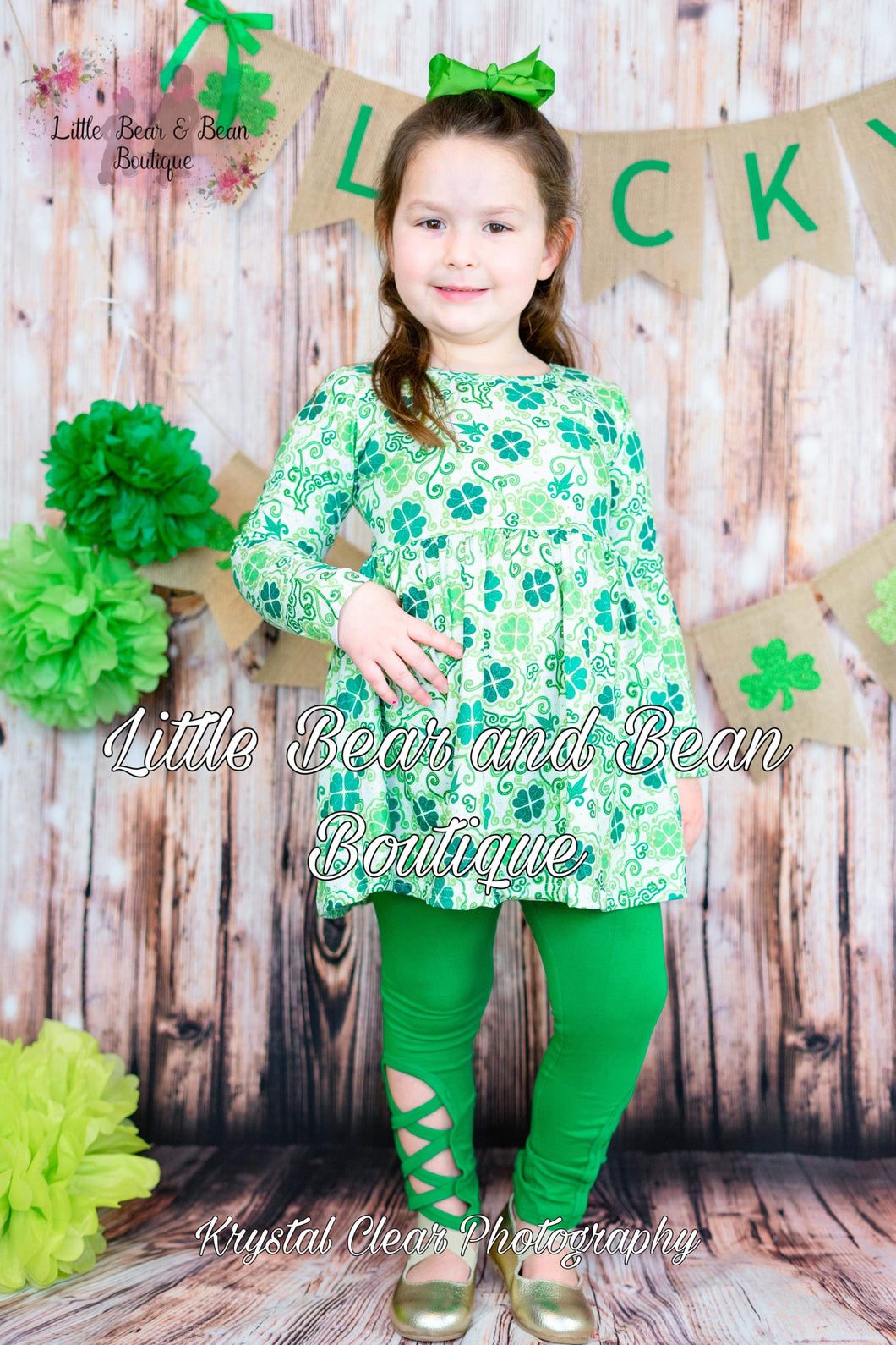 Clover Green Lattice Legging Set