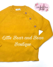 Load image into Gallery viewer, Button Accent Sweater- Mustard