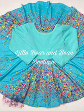 Load image into Gallery viewer, Teal Confetti Super Twirl Dress