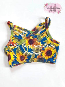 Child Bralette: Sunflowers