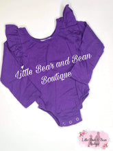 Load image into Gallery viewer, Purple Flutter Long Sleeve Leo