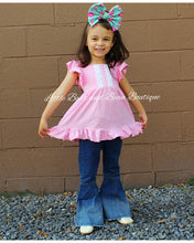Load image into Gallery viewer, Pink Tunic and Denim Belle Set