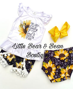 Honey Bee and Sunflower Pom Pom Set