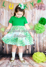 Load image into Gallery viewer, Cascading Clover Twirl Dress