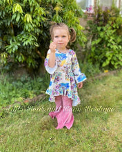 Load image into Gallery viewer, Watercolor Floral Tunic with Velvet Belle Leggings