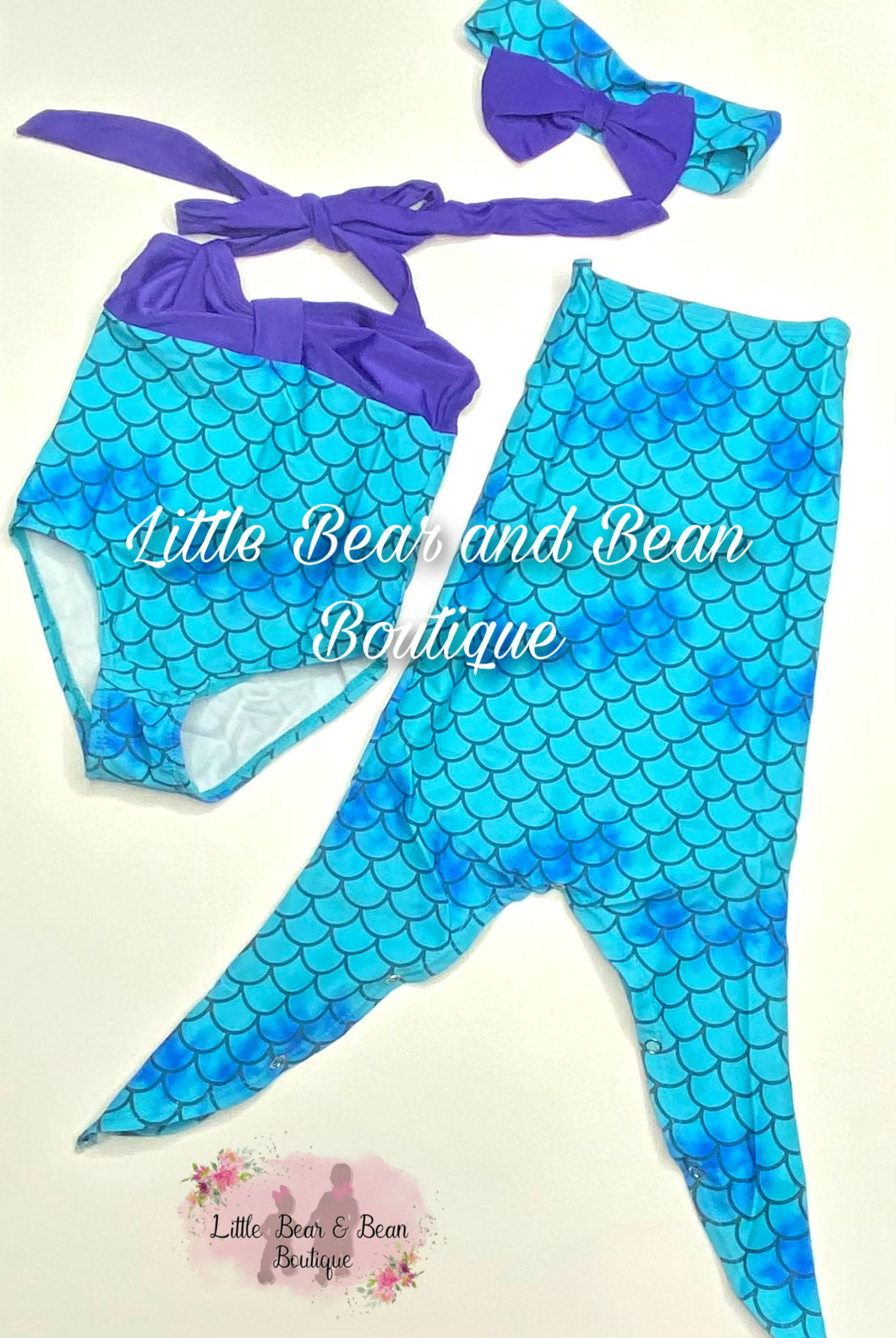 Mermaid Swim Suit with Accessories (3pc)