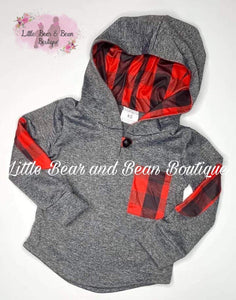 Buffalo Plaid Hooded Shirt