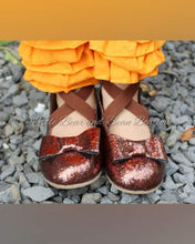 Load image into Gallery viewer, Autumn Ballet Flats with Bow Accent