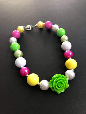 Lime Green, Yellow and Pink