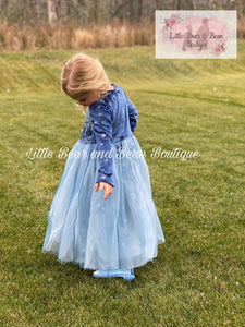 Velvet Snowflake Elsa Inspired Dress