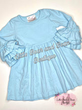 Load image into Gallery viewer, Ice Blue Belle Sleeve Dress