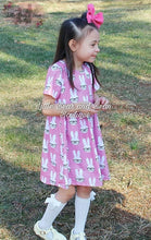 Load image into Gallery viewer, Pink Polka Dot Bunny Dress