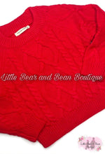 Load image into Gallery viewer, Red Chunky Knit Sweater
