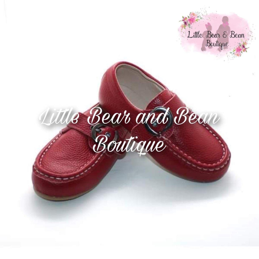 Red Adjustable Loafers
