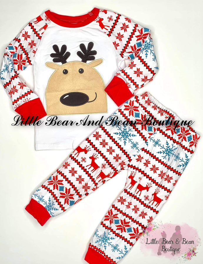 Reindeer Pajamas Set