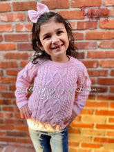 Load image into Gallery viewer, Pink Chunky Knit Sweater