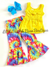 Load image into Gallery viewer, Tie Dye Belle Legging Bow Tank Set