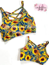 Load image into Gallery viewer, Child Bralette: Sunflowers
