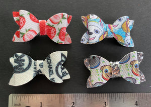 Various Print 2 Inch Bow on Alligator Clip