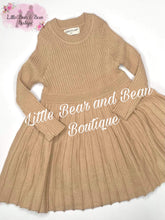 Load image into Gallery viewer, Pleated Sweater Dress- Beige