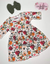 Load image into Gallery viewer, Mommy and Me Wine Floral Dress Child
