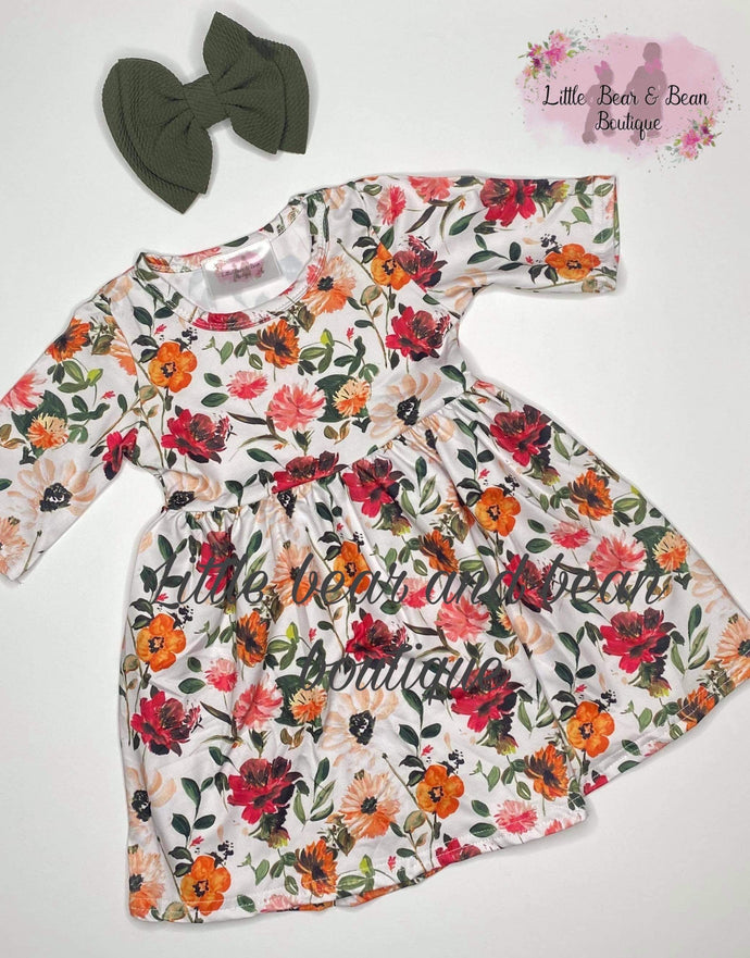 Mommy and Me Wine Floral Dress Child
