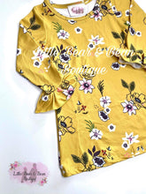 Load image into Gallery viewer, Mustard Fall Floral Dress