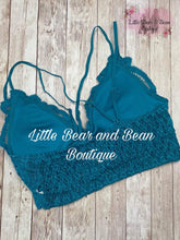 Load image into Gallery viewer, Ladies Lace Bralette Teal