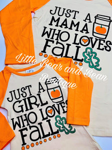 Mommy and Me - Mama Who Loves Fall Top