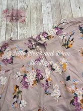 Load image into Gallery viewer, Ladies Taupe Floral Top