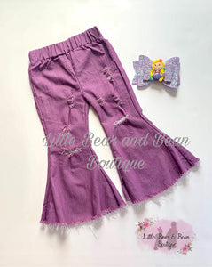 Distressed Denim Belles - Purple