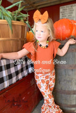 Load image into Gallery viewer, Pumpkin Belle Leggings and Rust Bow Back Leo