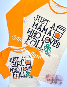 Mommy and Me - Girl Who Loves Fall Top