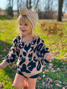 Luxe Tan Leopard Sweater