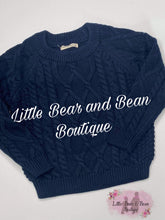 Load image into Gallery viewer, Navy Chunky  Knit Sweater
