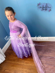 Some Things Never Change Elsa Inspired Dress with  Removable Cape