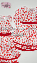 Load image into Gallery viewer, Sleeveless Hearts Double Layer Twirl Dress