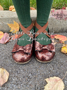 Autumn Ballet Flats with Bow Accent