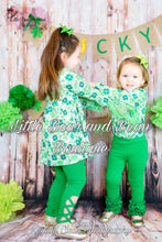 Load image into Gallery viewer, Clover Green Lattice Legging Set