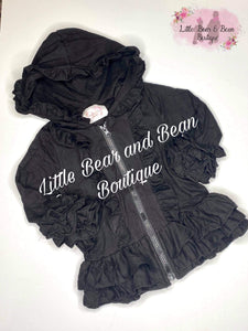 Black Ruffle Icing Jacket