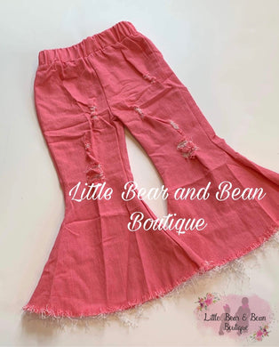 Distressed Denim Belles - Rose Pink