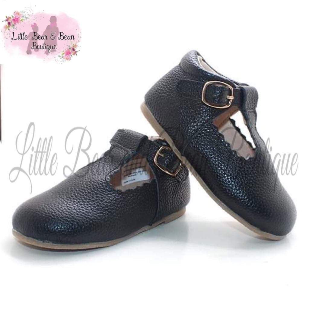 Ebony T Strap Shoes
